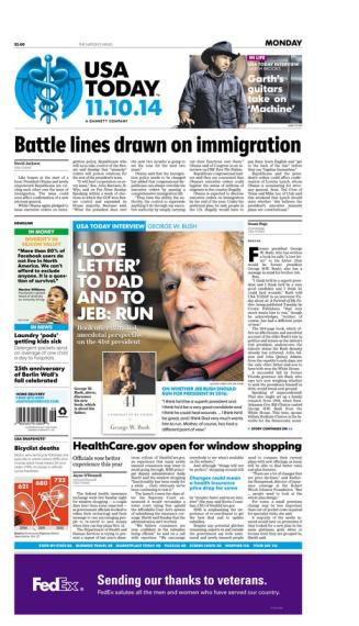 11/10/2014 Issue of USA TODAY
