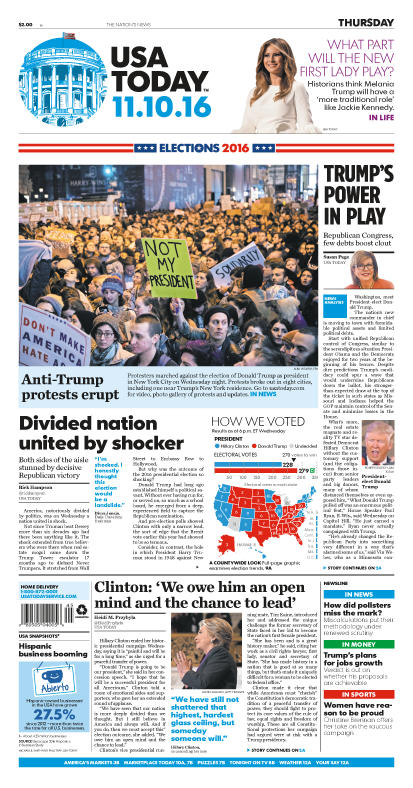 11/10/2016 Issue of USA TODAY
