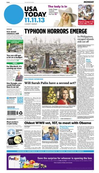 11/11/2013 Issue of USA TODAY