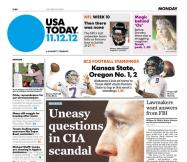 11/12/2012 Issue of USA TODAY