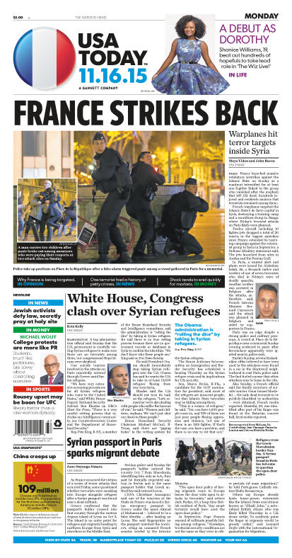11/16/2015 Issue of USA TODAY