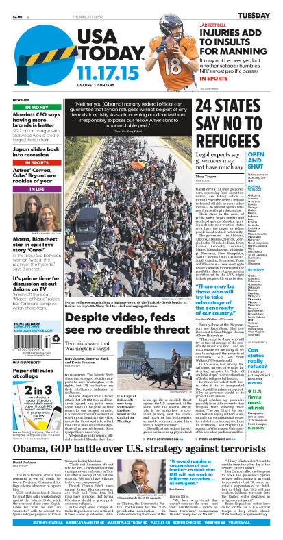 11/17/2015 Issue of USA TODAY