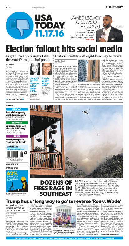 11/17/2016 Issue of USA TODAY