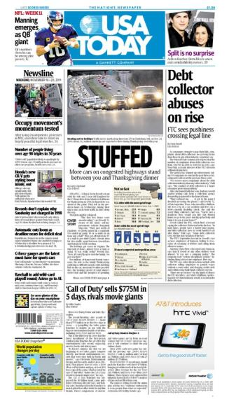 11/18/2011 Issue of USA TODAY