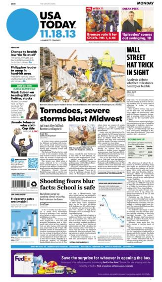 11/18/2013 Issue of USA TODAY