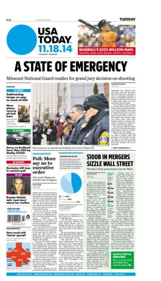 11/18/2014 Issue of USA TODAY