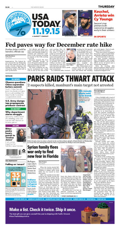 11/19/2015 Issue of USA TODAY