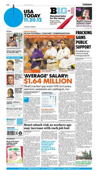 11/20/2012 Issue of USA TODAY
