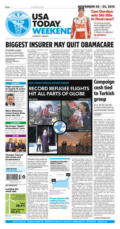 11/20/2015 Issue of USA TODAY
