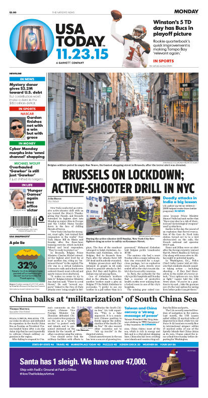 11/23/2015 Issue of USA TODAY