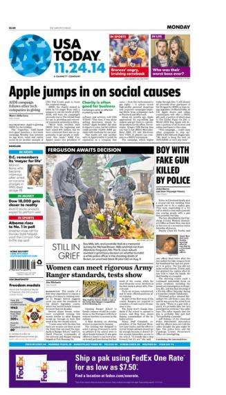 11/24/2014 Issue of USA TODAY