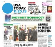 11/25/2013 Issue of USA TODAY