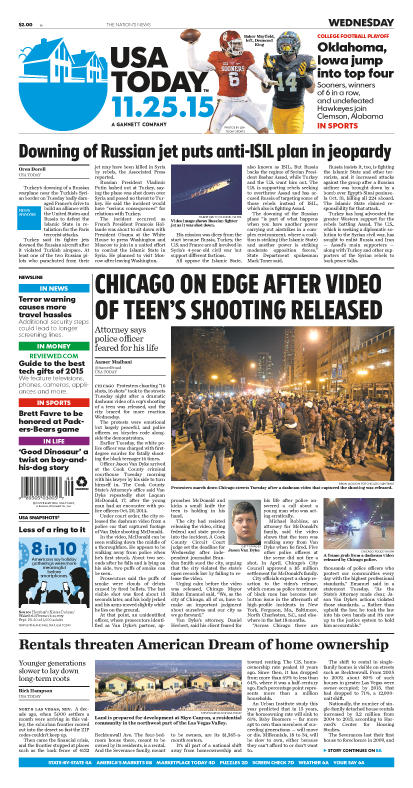 11/25/2015 Issue of USA TODAY