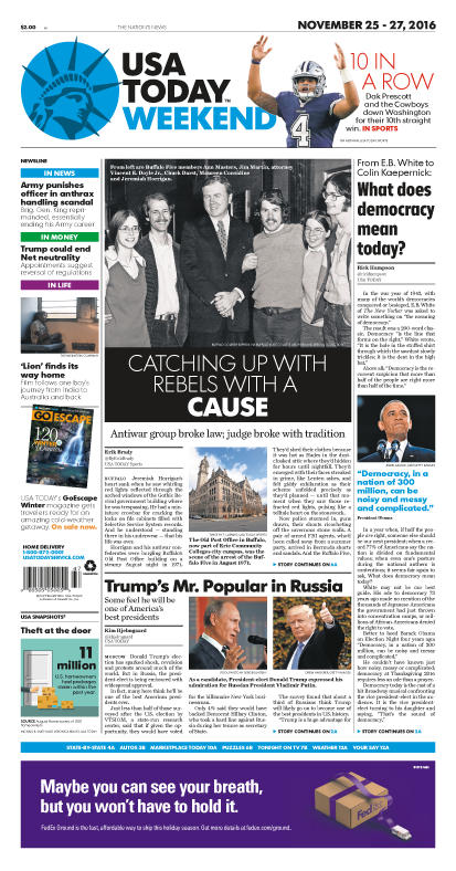 11/25/2016 Issue of USA TODAY