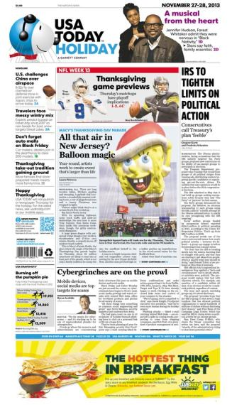 11/27/2013 Issue of USA TODAY