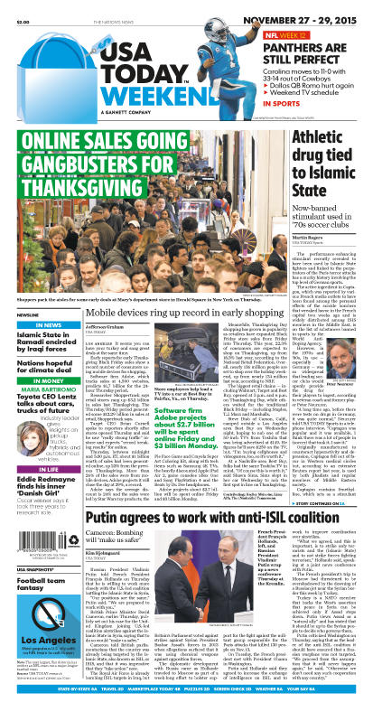 11/27/2015 Issue of USA TODAY