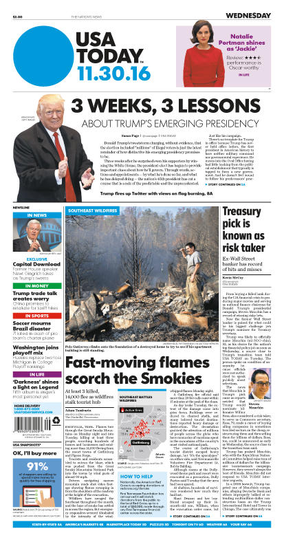 11/30/2016 Issue of USA TODAY