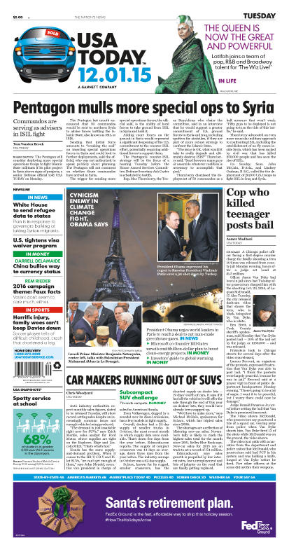 12/01/2015 Issue of USA TODAY