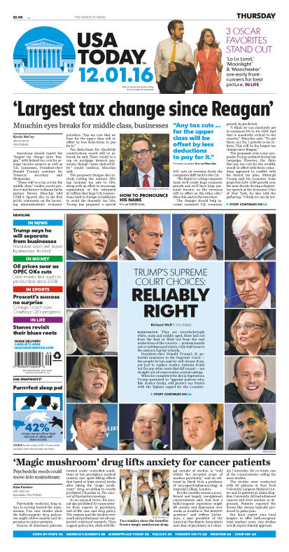 12/01/2016 Issue of USA TODAY_THUMBNAIL