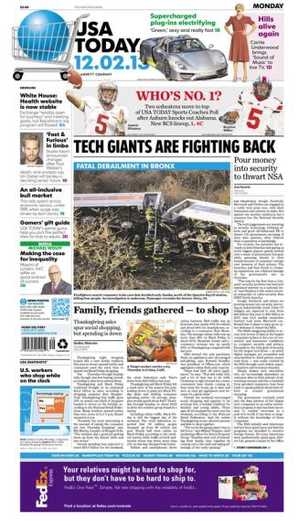 12/02/2013 Issue of USA TODAY