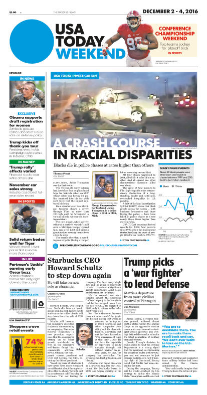 12/02/2016 Issue of USA TODAY