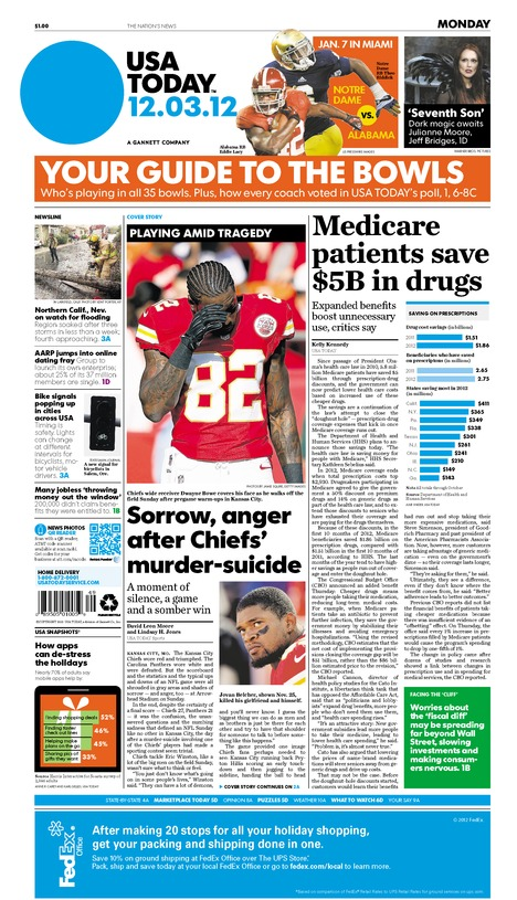 12/03/2012 Issue of USA TODAY