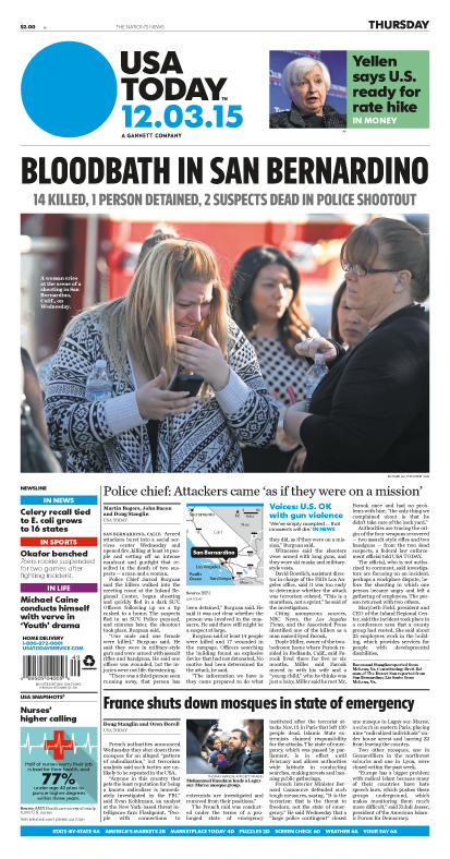 12/03/2015 Issue of USA TODAY