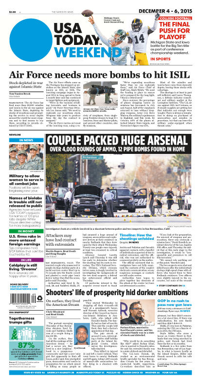 12/04/2015 Issue of USA TODAY
