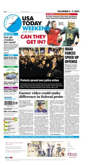 12/05/2014 Issue of USA TODAY