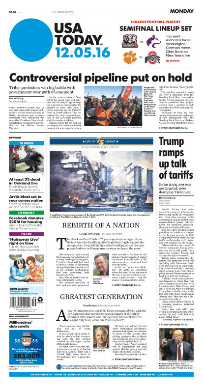 12/05/2016 Issue of USA TODAY