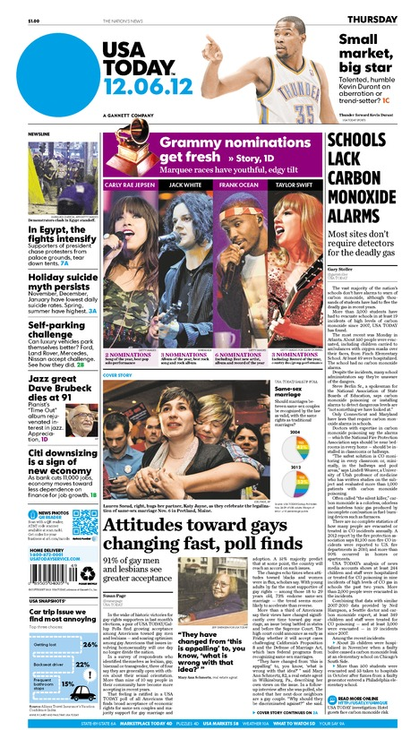 12/06/2012 Issue of USA TODAY