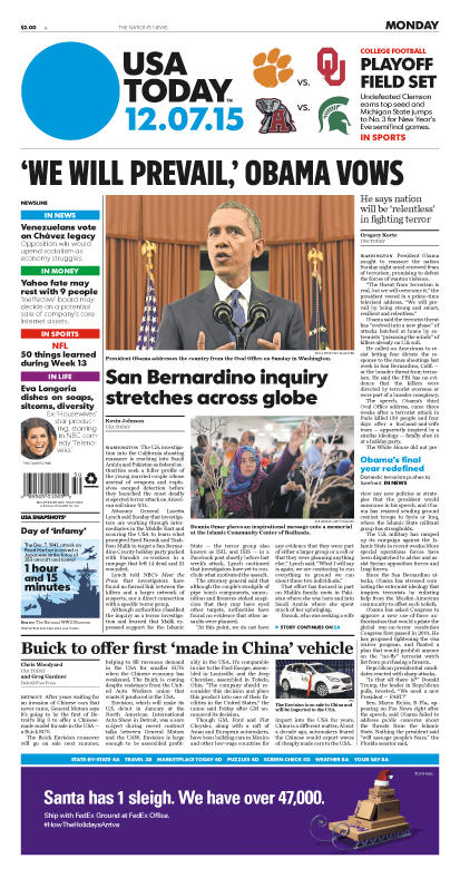 12/07/2015 Issue of USA TODAY
