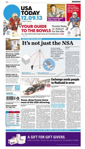 12/09/2013 Issue of USA TODAY