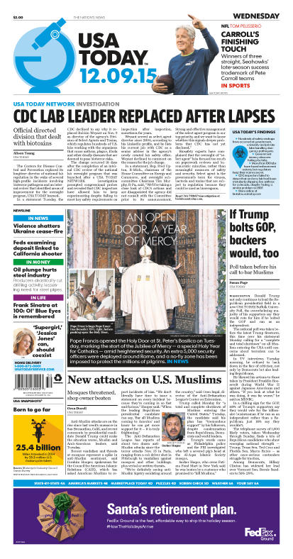 12/09/2015 Issue of USA TODAY