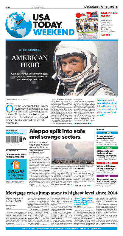 12/09/2016 Issue of USA TODAY MAIN