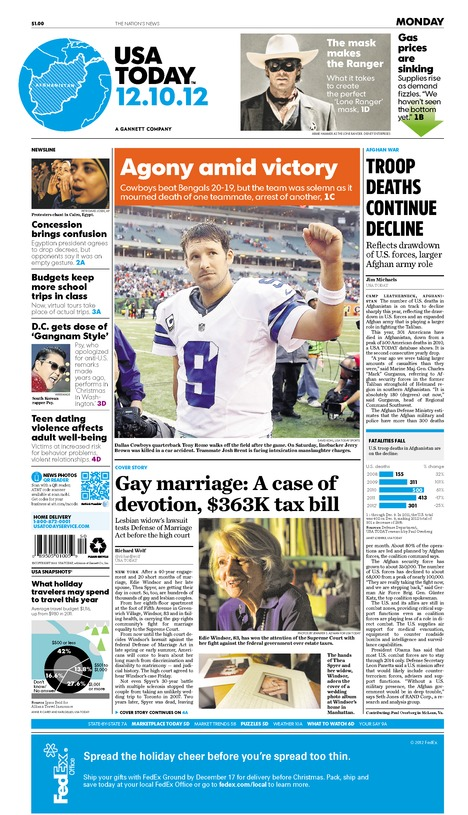 12/10/2012 Issue of USA TODAY
