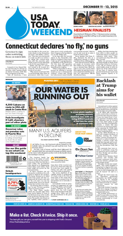 12/11/2015 Issue of USA TODAY