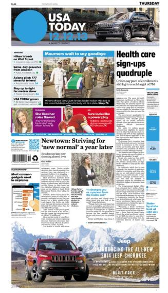 12/12/2013 Issue of USA TODAY