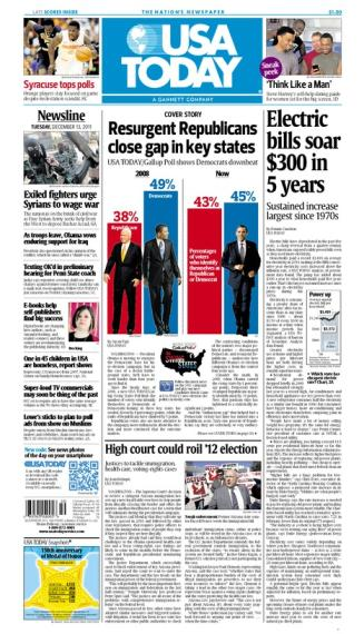 12/13/2011 Issue of USA TODAY