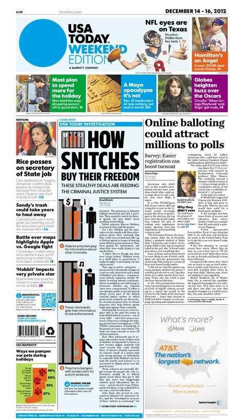12/14/2012 Issue of USA TODAY