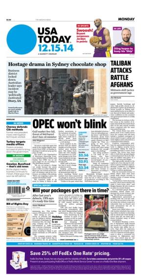 12/15/2014 Issue of USA TODAY