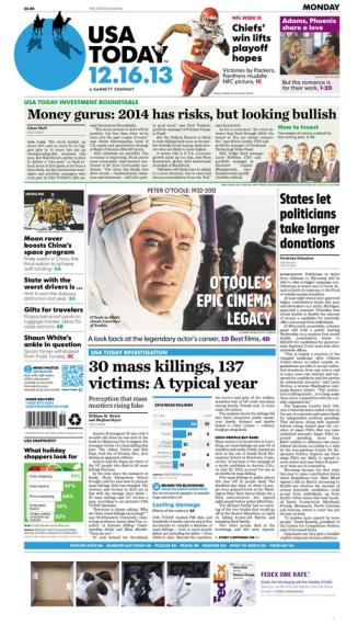 12/16/2013 Issue of USA TODAY