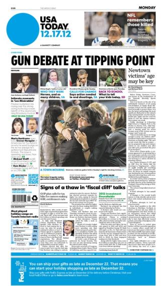12/17/2012 Issue of USA TODAY