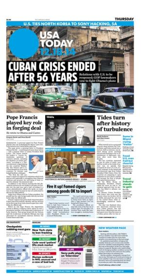 12/18/2014 Issue of USA TODAY