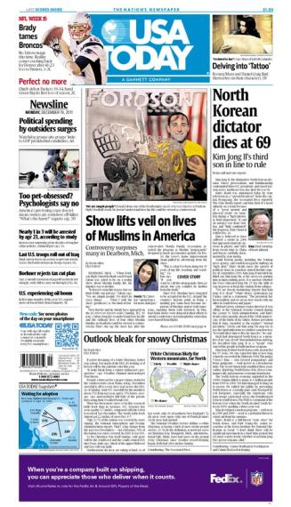 12/19/2011 Issue of USA TODAY