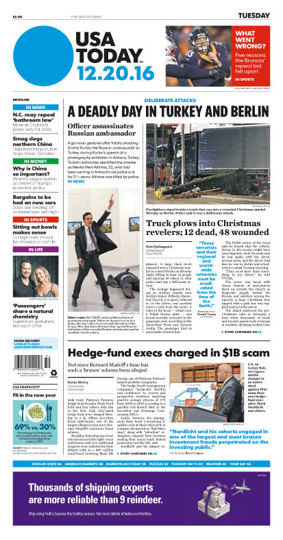 12/20/2016 Issue of USA TODAY