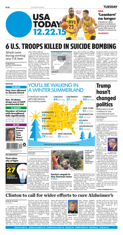 12/22/2015 Issue of USA TODAY