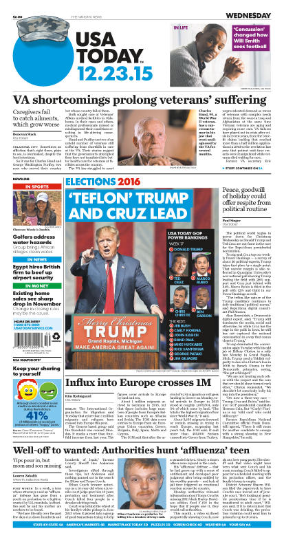 12/23/2015 Issue of USA TODAY