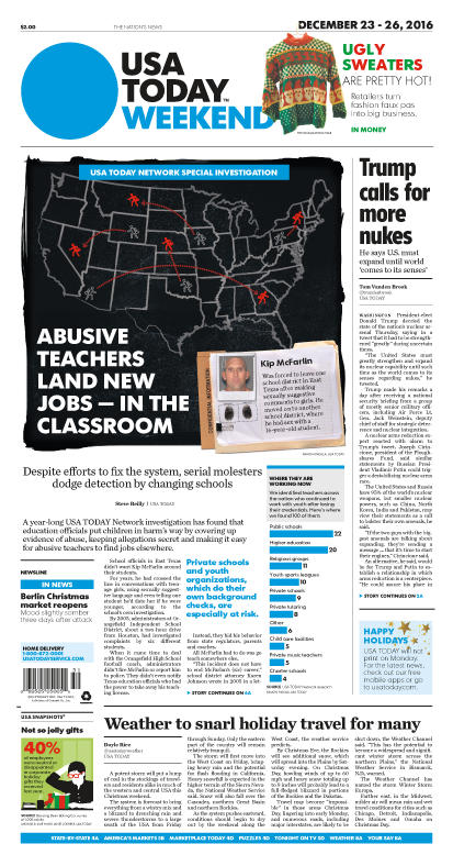 12/23/2016 Issue of USA TODAY