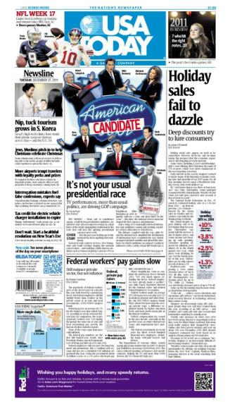 12/27/2011 Issue of USA TODAY